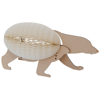 Concertina Lamp - Polar Bear - Natural / White