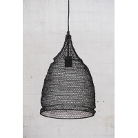 Crochet Lamp - Cone - Black