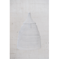 Crochet Lamp - Cone - White