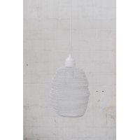 Crochet Lamp - Mini Ball - White
