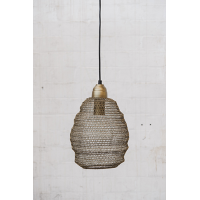 Crochet Lamp - Mini Ball - Matt Gold