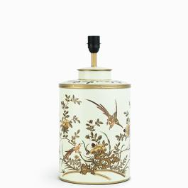 Chinoiserie Lamp Base - Golden Bird - Mint / Gold