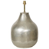 Silver Plated Brass Lamp Base - Dr Bellows - Silver