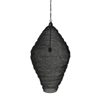 Crochet Lamp - Diamond - Black