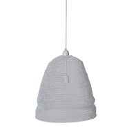Crochet Lamp - Cone of Silence - White