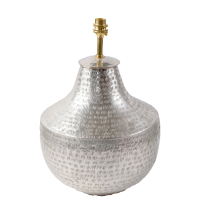 Silver Plated Brass Lamp Base - Urn - Silver