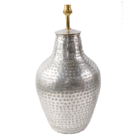 Gold Plated Brass Lamp Base - Vase - Silver