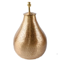 Gold Plated Brass Lamp Base - Teardrop - Gold