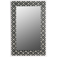 Fair Isle Bone Inlay Mirror - Charcoal