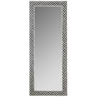 Bone Inlay Standing Mirror - Wallpaper - Black