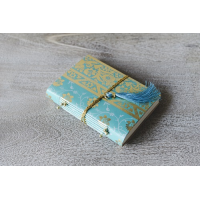 Sari Leather Journal - Small - Turquoise