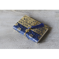 Sari Leather Journal - Small - Navy Blue