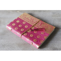 Sari Leather Journal - A4 - Pink