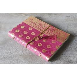 Sari Leather Journal - Small - Pink