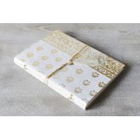 Sari Leather Journal - A4 - White