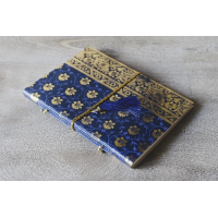 Sari Leather Journal - A4 - Navy Blue