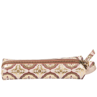 Decadence Leather Pencil Pouch - Mini Mandala - Copper Multi