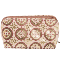 Decadence Leather Pouch - Mini Mandala - Copper Multi