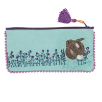 Embroidered Purse - Peter Rabbit - Turquoise