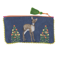 Embroidered Purse - Bambi - Grey