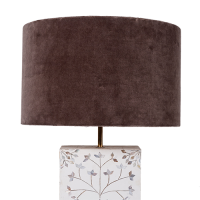 Drum Shade - Velvet - Taupe