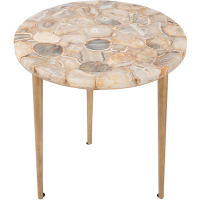 Palm Springs Agate Inlay Side Table - Assorted