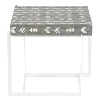 Arrow Mother of Pearl Side Table - Grey