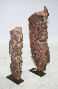 Carved Timber Bracket on Stand - Brown