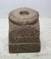 Carved Stone Base - Natural