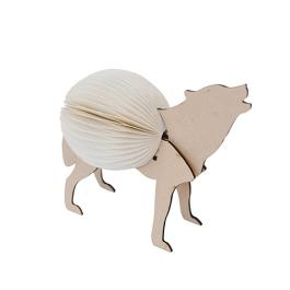 Concertina Animal - Wolf - Natural / White