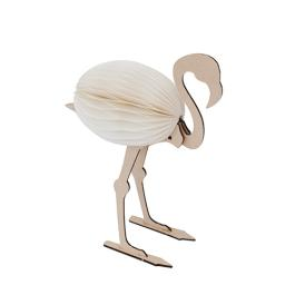 Concertina Animal - Flamingo - Natural / White