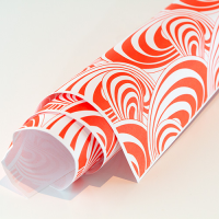 Scandi Paper - Swirl - Orange / White
