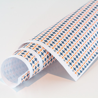 Scandi Paper - Oval Cross - Grey / Orange