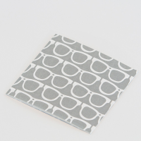 Scandi Greeting Card - Glasses - Grey / White