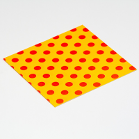 Fiesta Greeting Card - Polka Dot - Mustard / Orange