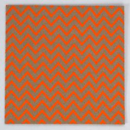 Fluoro Greeting Card - Chevron - Orange