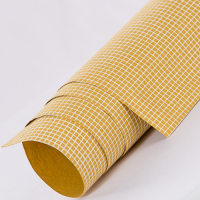 Tribal Check Wrapping Paper - Mustard