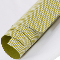 Tribal Check Wrapping Paper - Olive Green