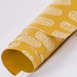 Tribal Paisley Wrapping Paper - Mustard