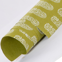 Tribal Paisley Wrapping Paper - Olive Green