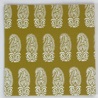 Tribal Paisley Card - Olive Green