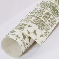 Tribal Wrapping Paper - Pale Green / White