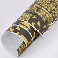 Tribal Wrapping Paper - Mustard / Black