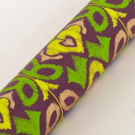New Ikat Wrapping Paper - Purple / Green