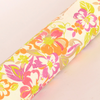 Watercolour Floral Wrapping Paper - Cream / Pink / Purple / Orange