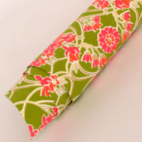 Laurel Wrapping Paper - Olive / Crimson