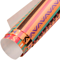 Aztec Wrapping Paper - Orange Multi