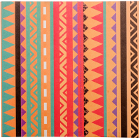 Aztec Greeting Card - Orange Multi