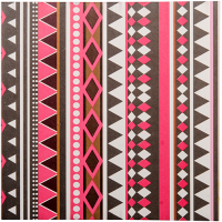 Aztec Greeting Card - Black / Red Multi