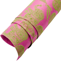 Velvet Fruit / Animal Wrapping Paper - Purple / Green